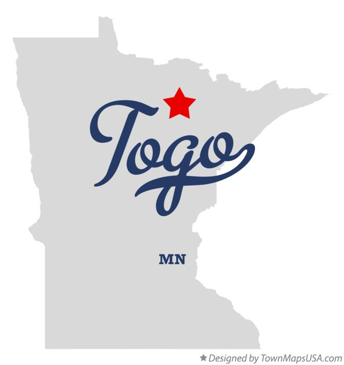 Map of Togo Minnesota MN