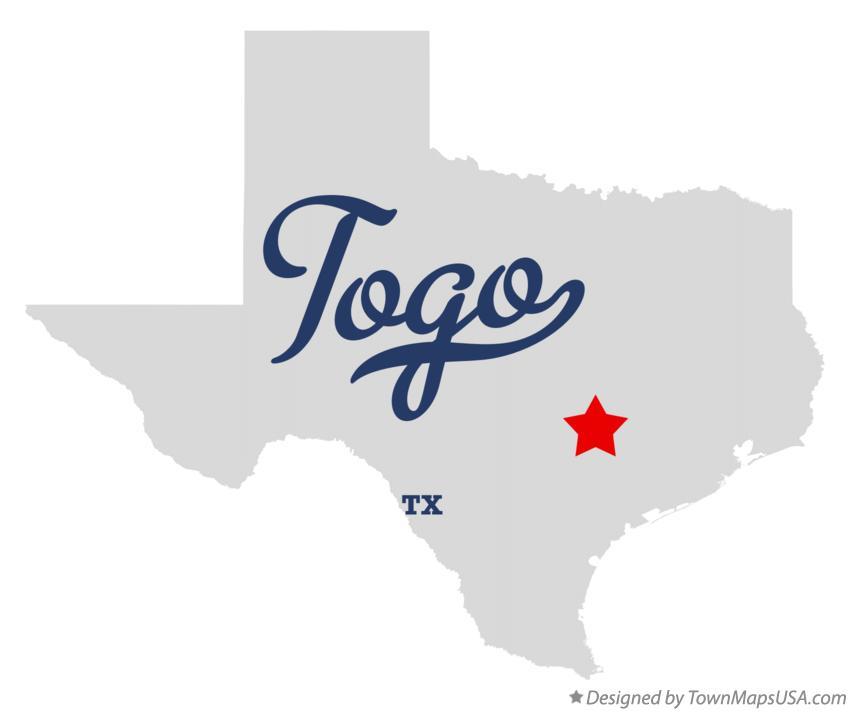 Map of Togo Texas TX
