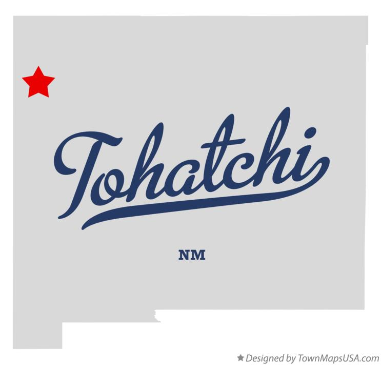 Map of Tohatchi New Mexico NM