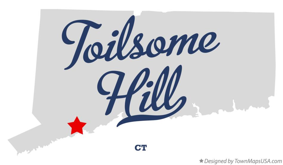 Map of Toilsome Hill Connecticut CT