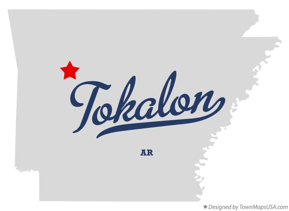 Map of Tokalon Arkansas AR