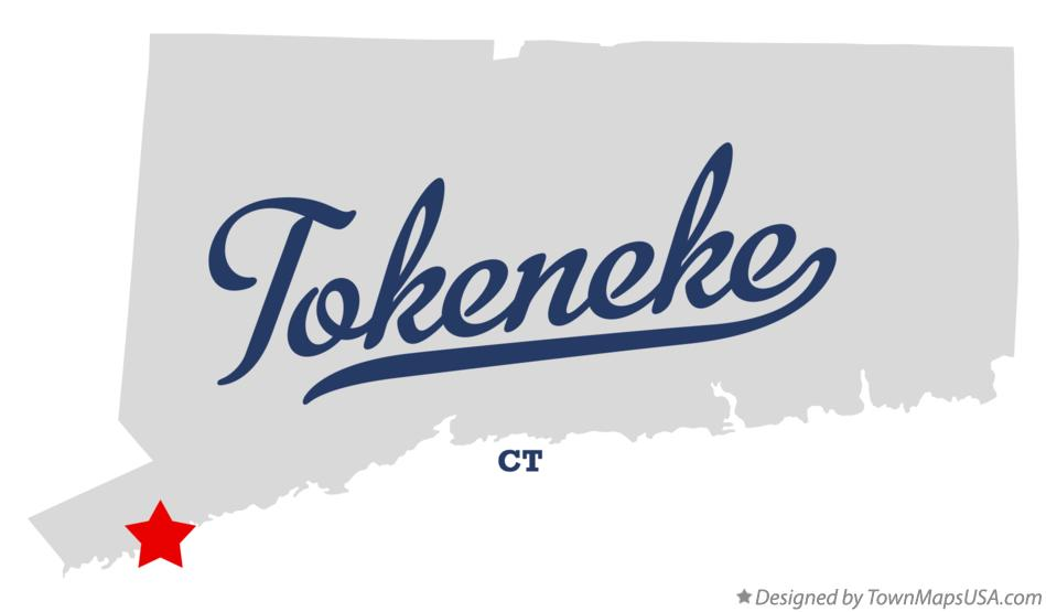 Map of Tokeneke Connecticut CT