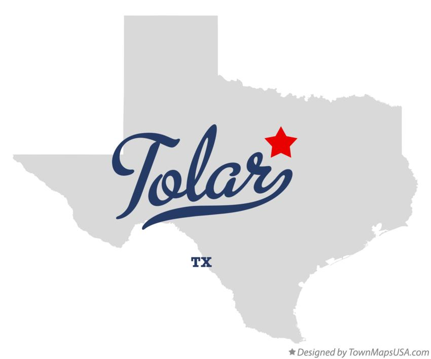 Map of Tolar Texas TX
