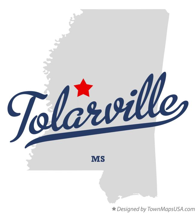 Map of Tolarville Mississippi MS