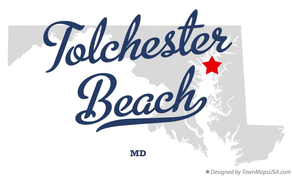 Map of Tolchester Beach Maryland MD