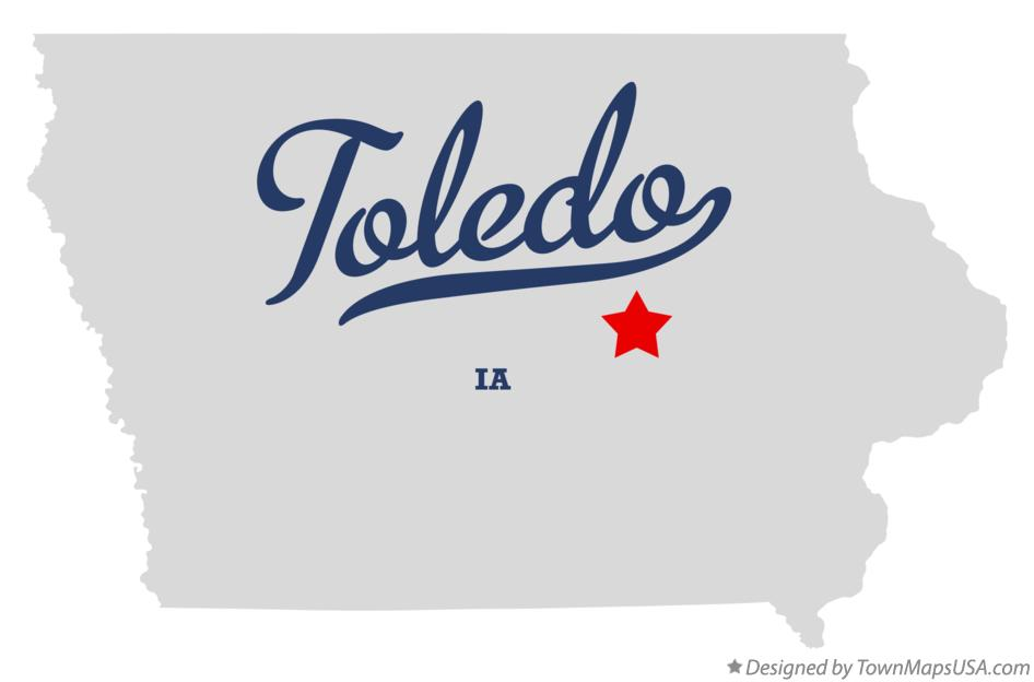 Map of Toledo Iowa IA