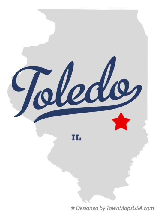 Map of Toledo Illinois IL