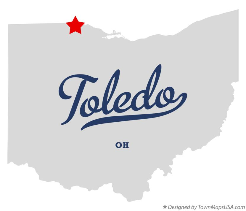Map of Toledo, OH, Ohio