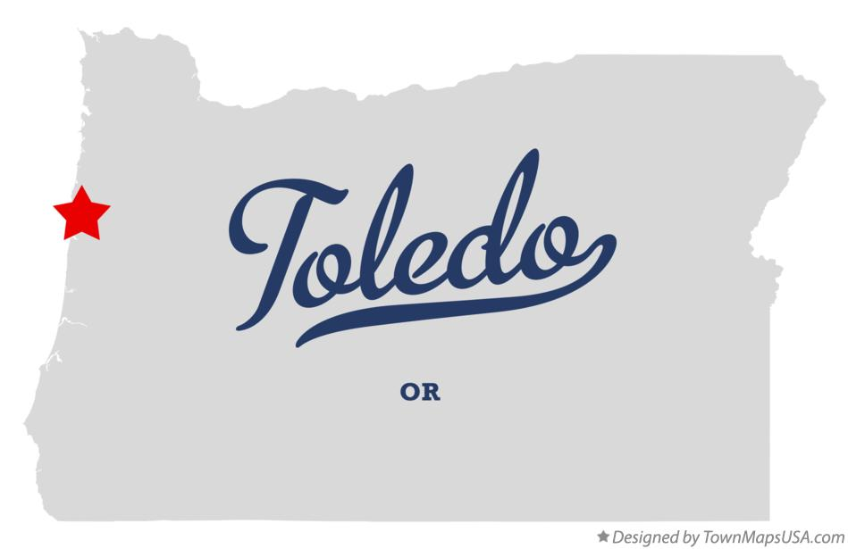 Map of Toledo Oregon OR