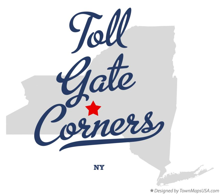 Map of Toll Gate Corners New York NY