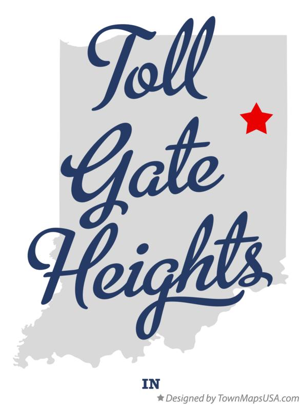 Map of Toll Gate Heights Indiana IN