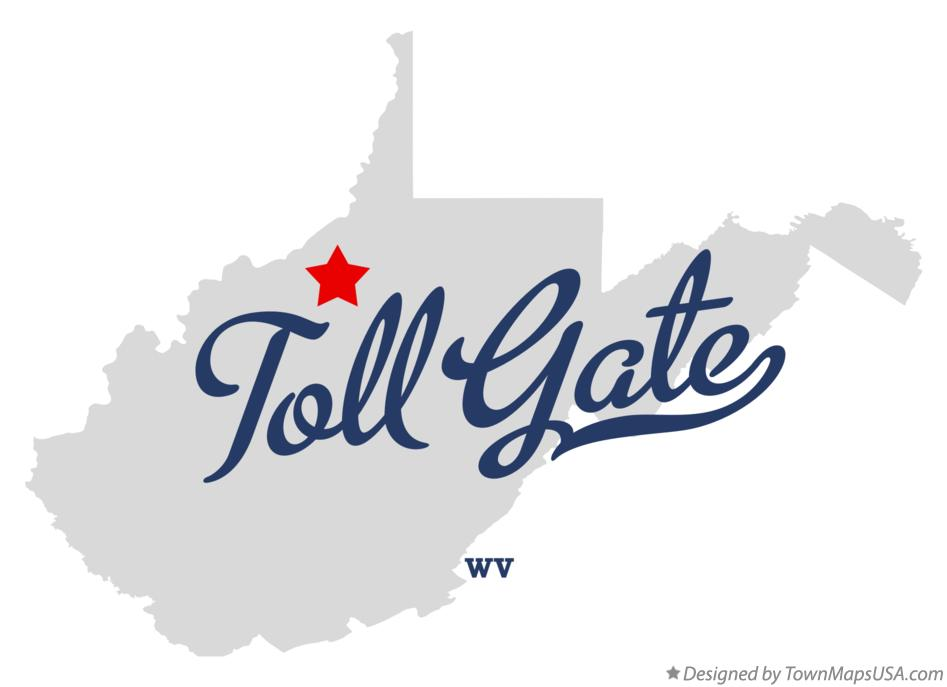 Map of Toll Gate West Virginia WV