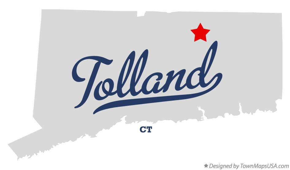 Map of Tolland Connecticut CT