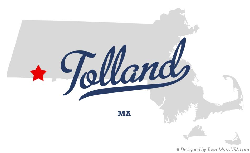 Map of Tolland Massachusetts MA