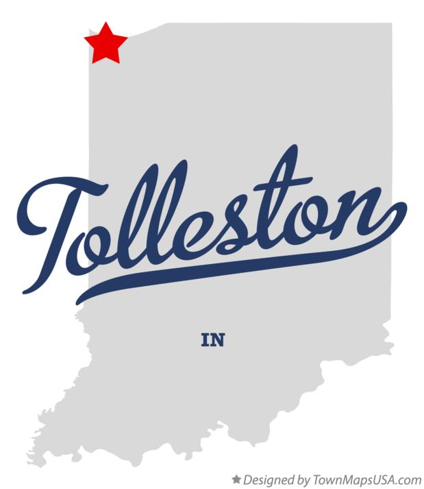 Map of Tolleston Indiana IN