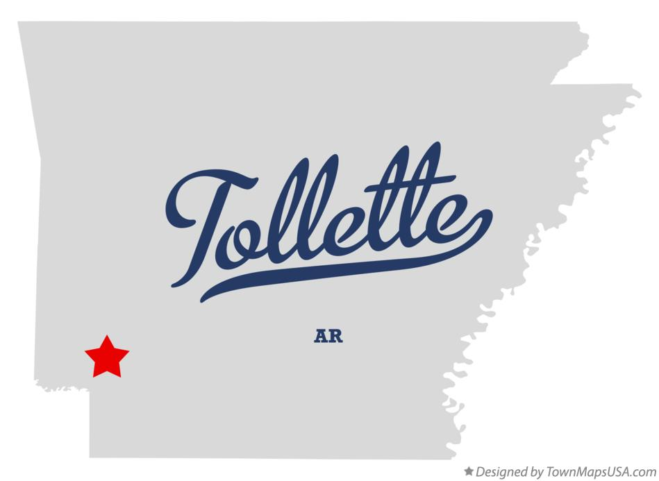 Map of Tollette Arkansas AR