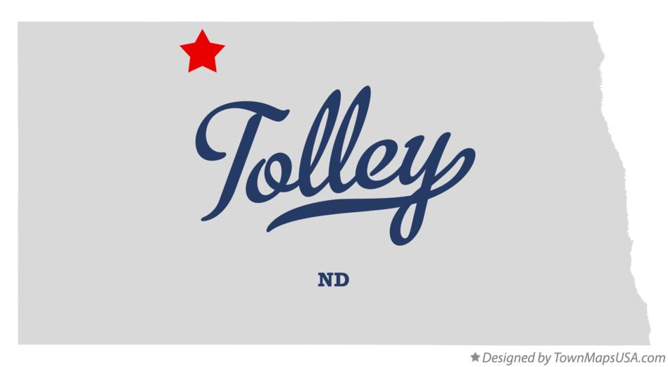 Map of Tolley North Dakota ND