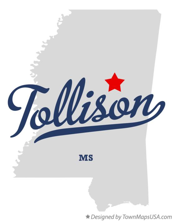 Map of Tollison Mississippi MS