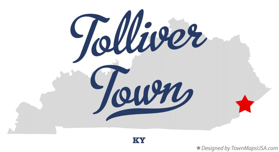 Map of Tolliver Town Kentucky KY