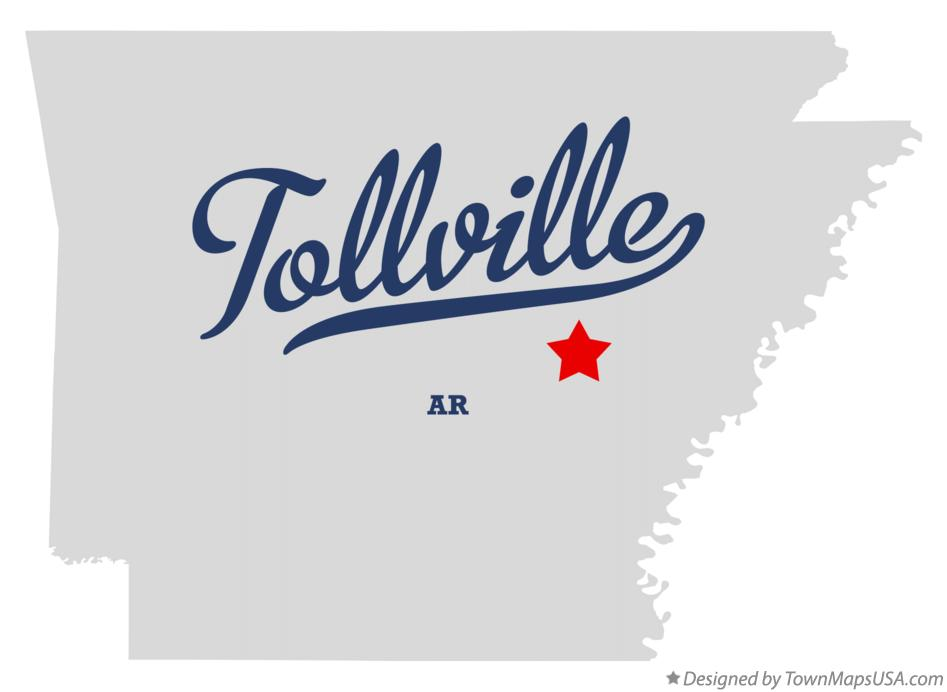 Map of Tollville Arkansas AR