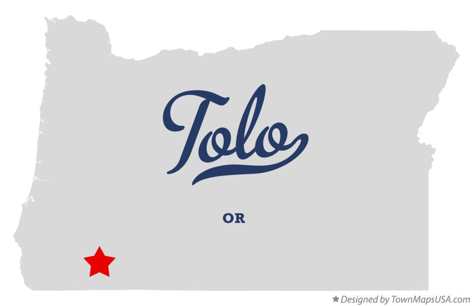 Map of Tolo Oregon OR
