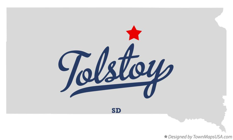 Map of Tolstoy South Dakota SD