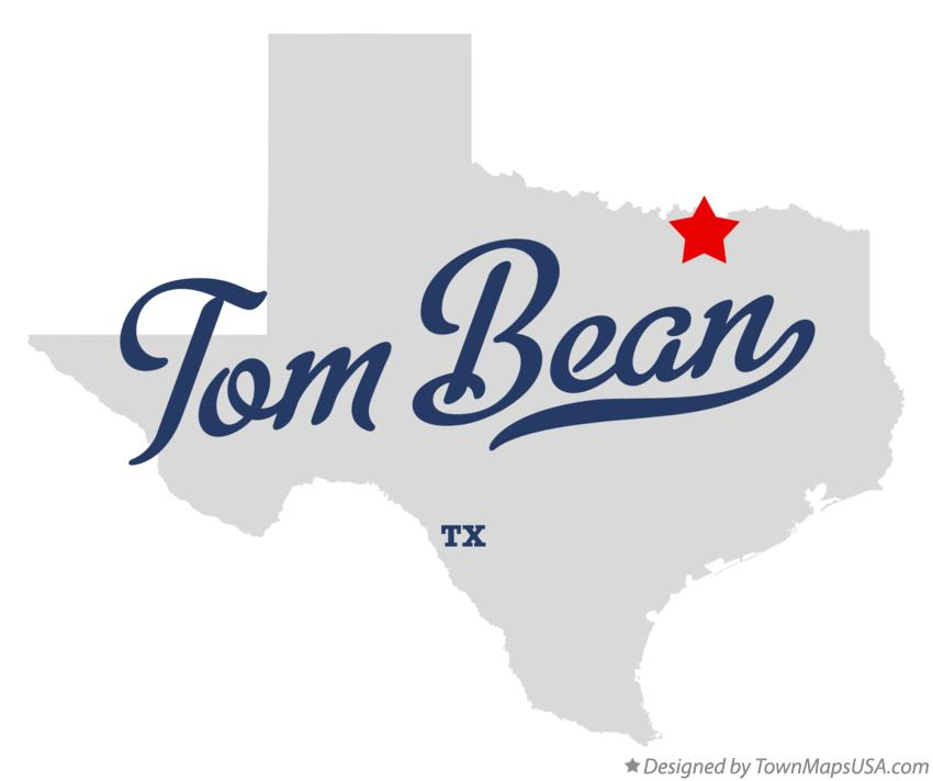 Map of Tom Bean Texas TX