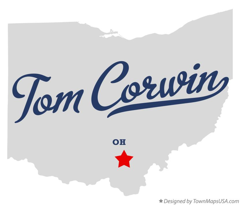 Map of Tom Corwin Ohio OH