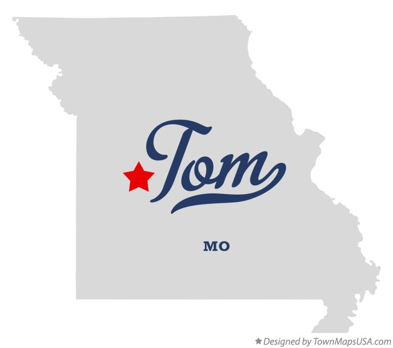 Map of Tom Missouri MO
