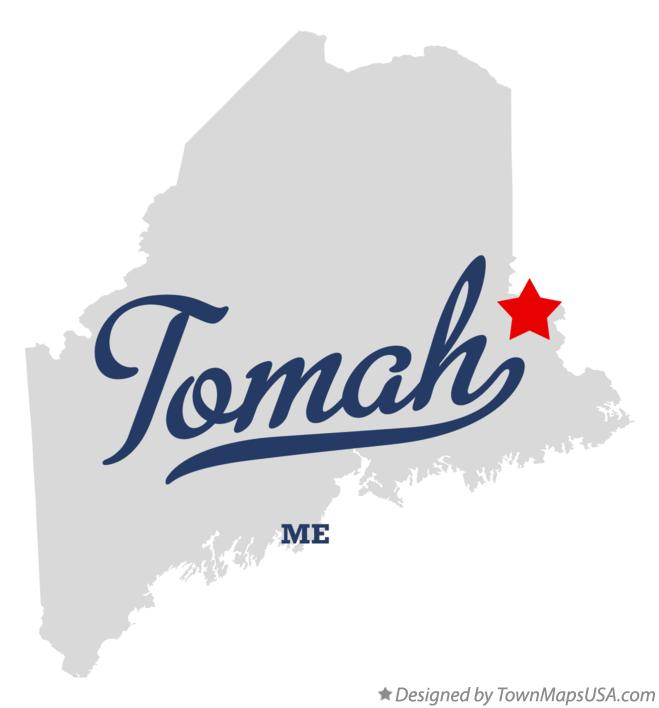 Map of Tomah Maine ME