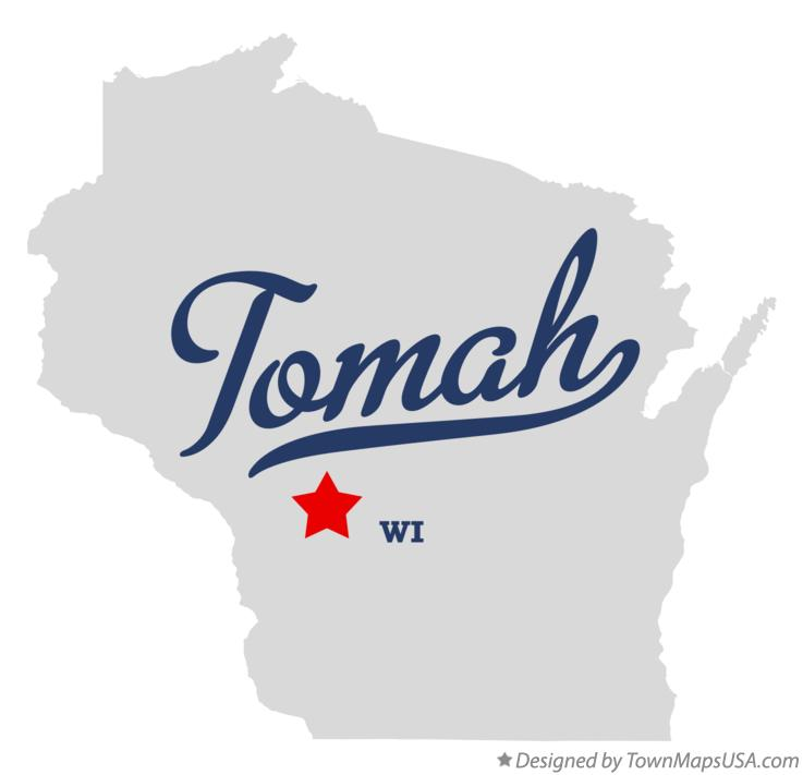 Map of Tomah Wisconsin WI