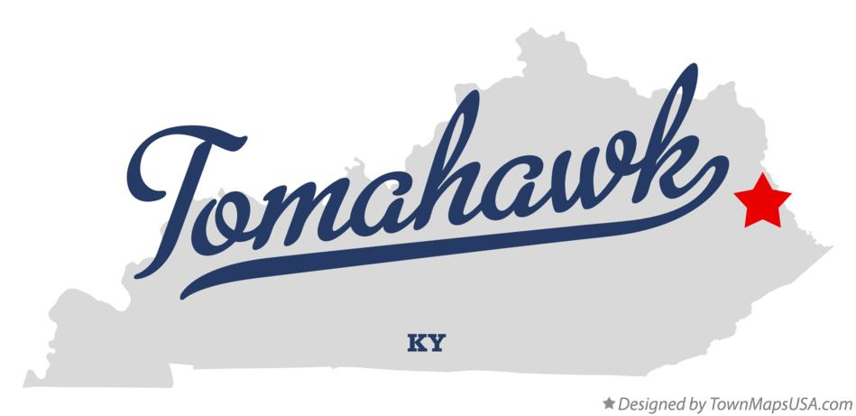 Map of Tomahawk Kentucky KY