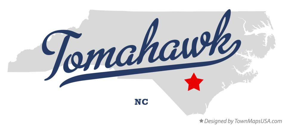 Map of Tomahawk North Carolina NC