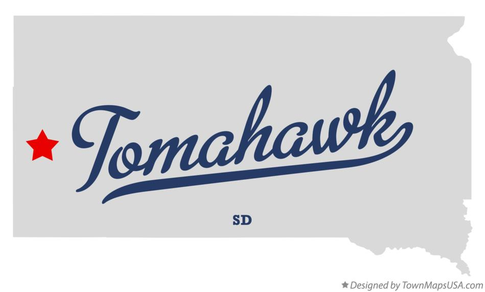 Map of Tomahawk South Dakota SD