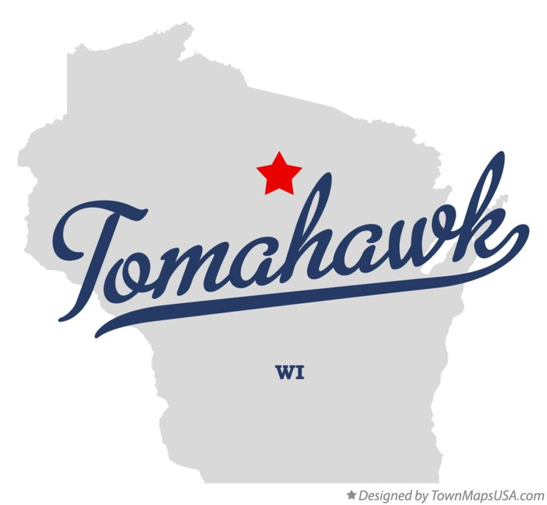 Map of Tomahawk Wisconsin WI