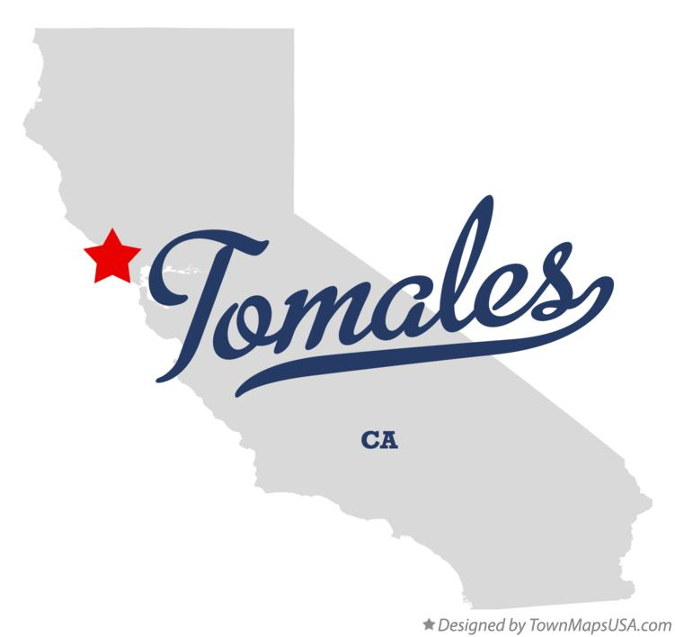 Map of Tomales California CA