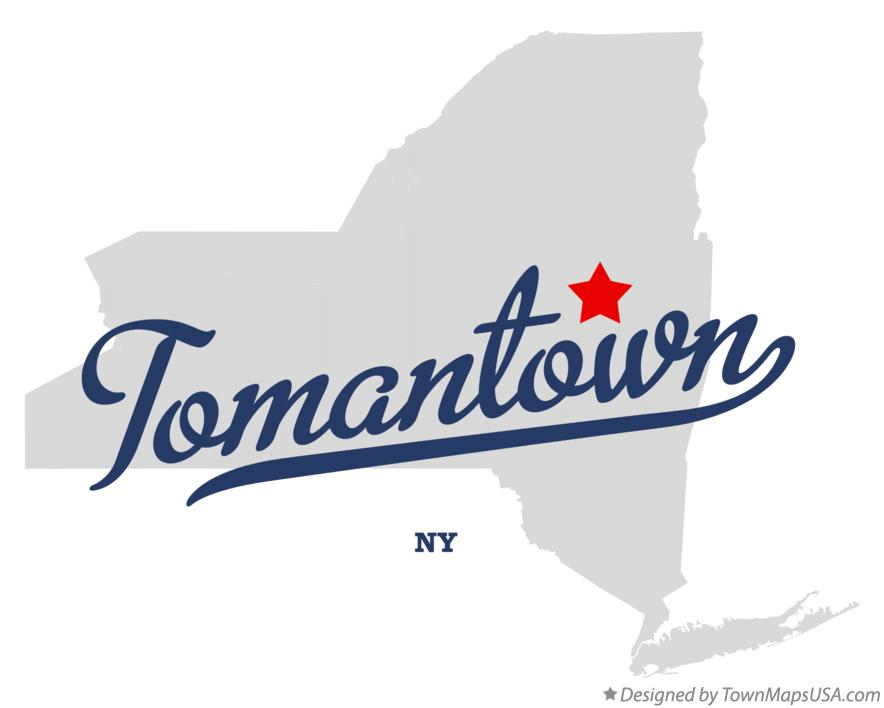 Map of Tomantown New York NY