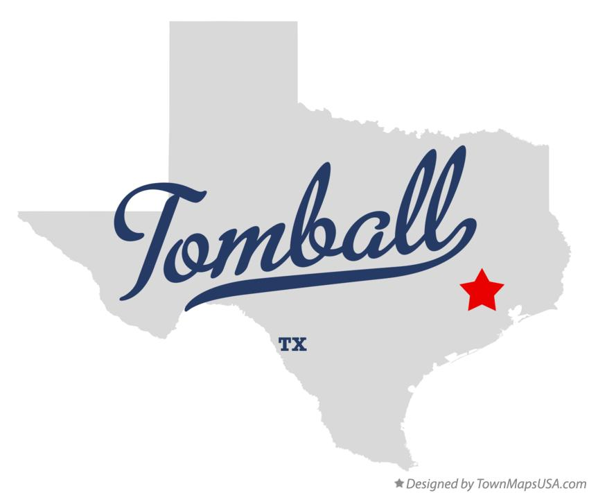 Map of Tomball Texas TX