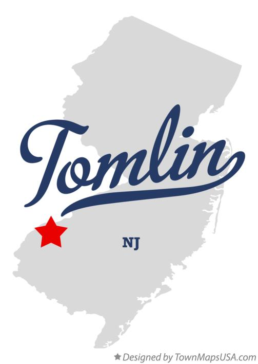 Map of Tomlin New Jersey NJ