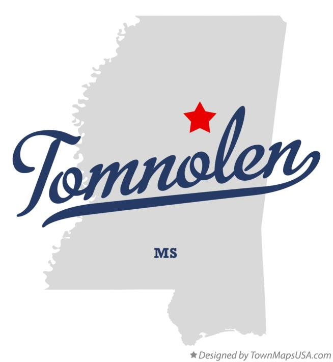 Map of Tomnolen Mississippi MS