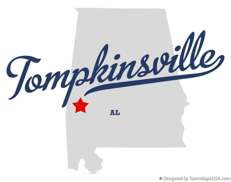 Map of Tompkinsville Alabama AL
