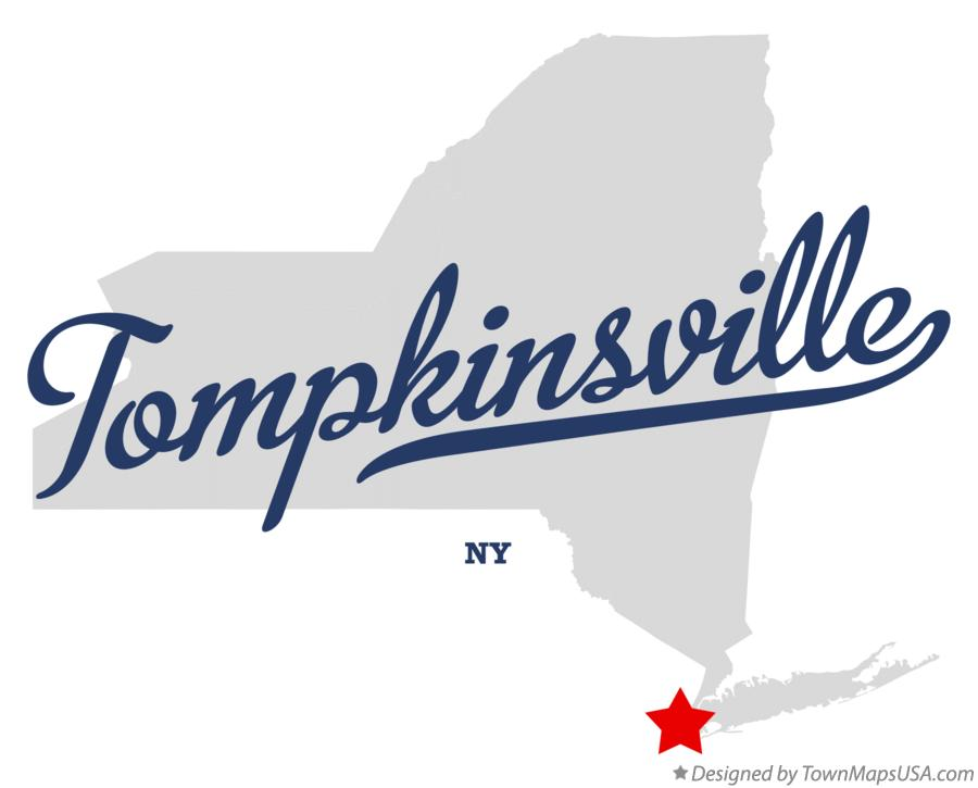 Map of Tompkinsville New York NY