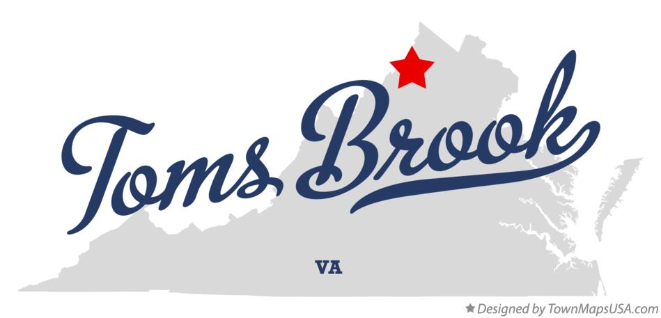 Map of Toms Brook Virginia VA