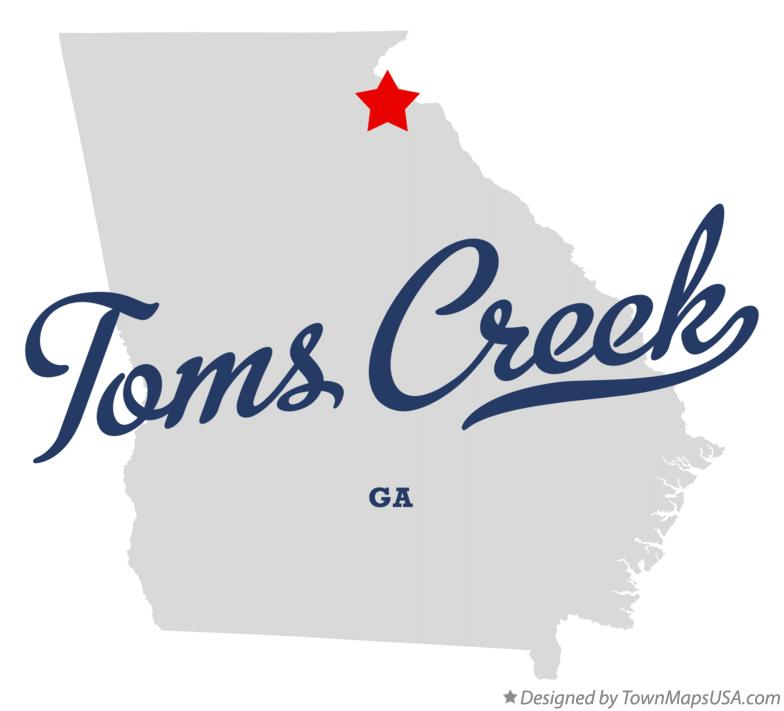 Map of Toms Creek Georgia GA