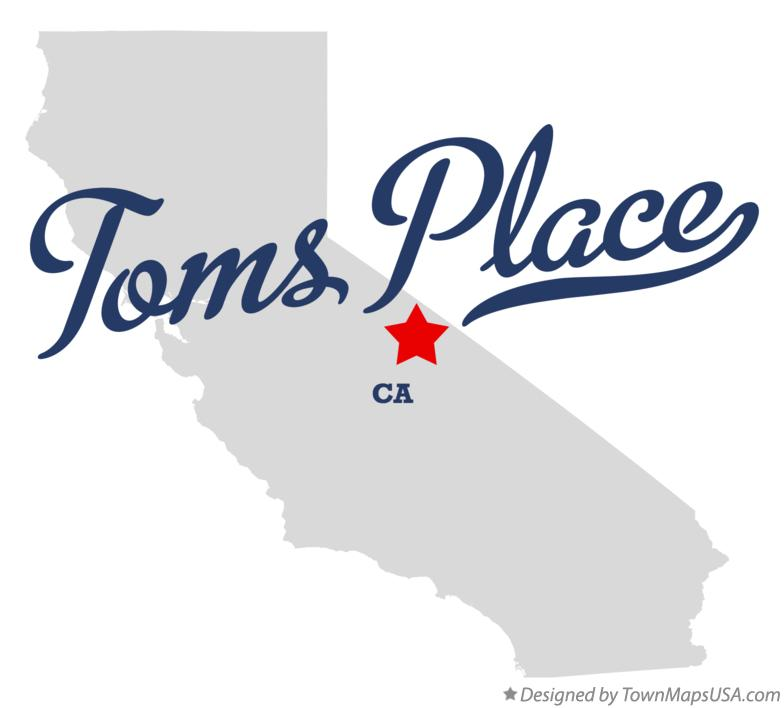 Map of Toms Place California CA