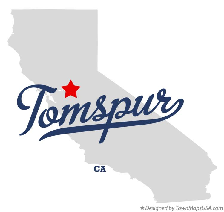 Map of Tomspur California CA