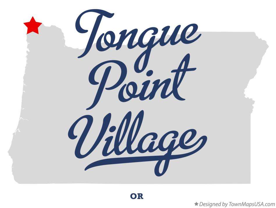 Map of Tongue Point Village Oregon OR