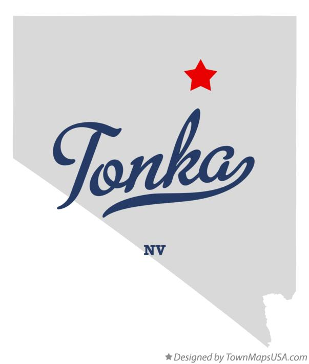 Map of Tonka Nevada NV