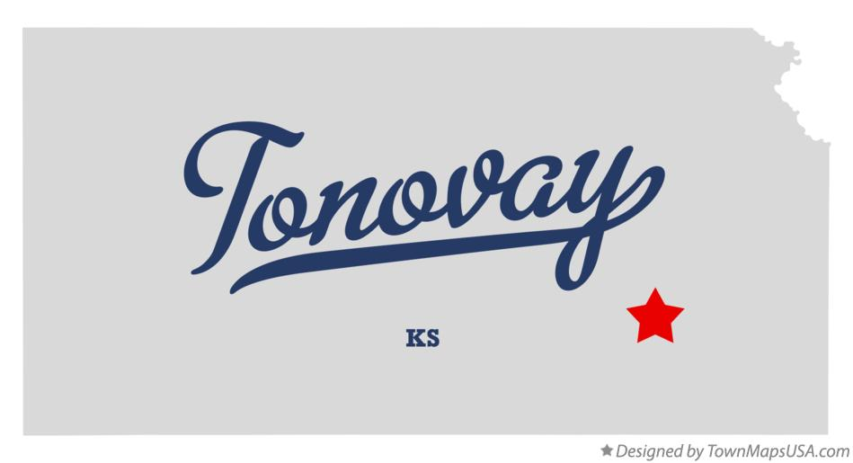 Map of Tonovay Kansas KS