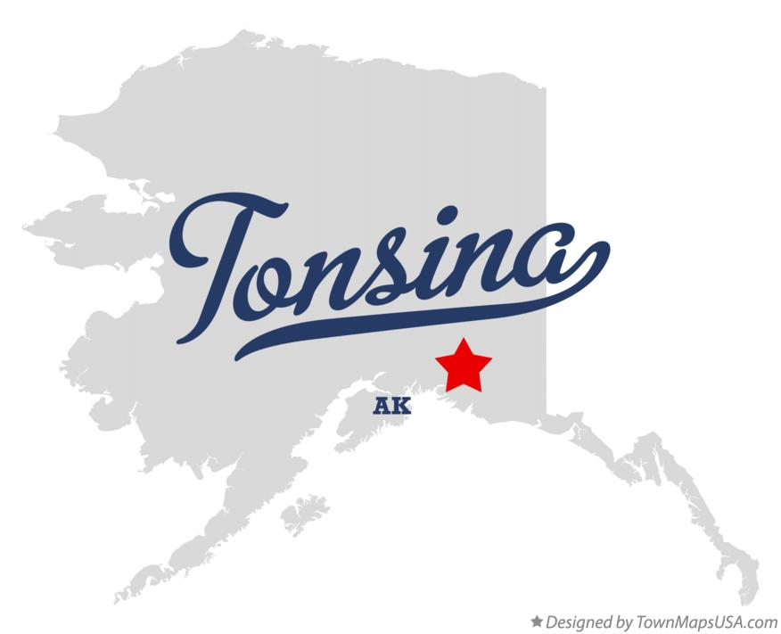 Map of Tonsina Alaska AK